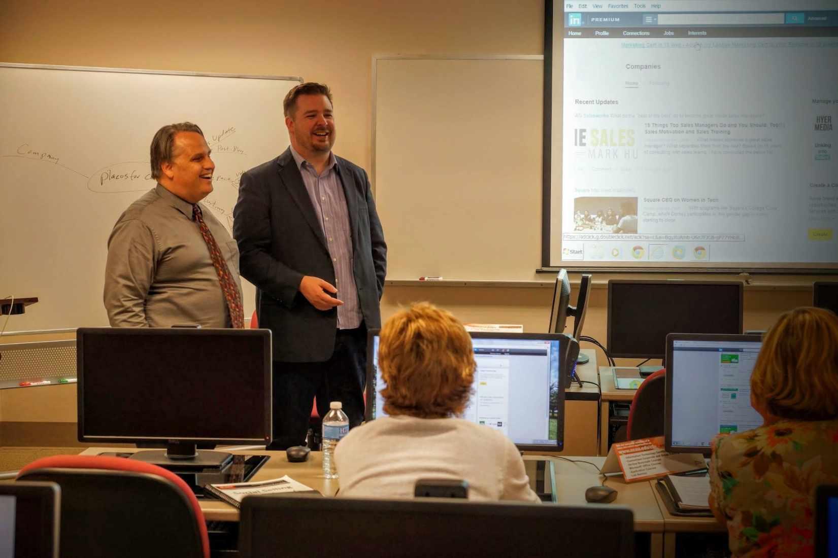 Greg Hyer and Martin Brossman teaching at NC State TTS