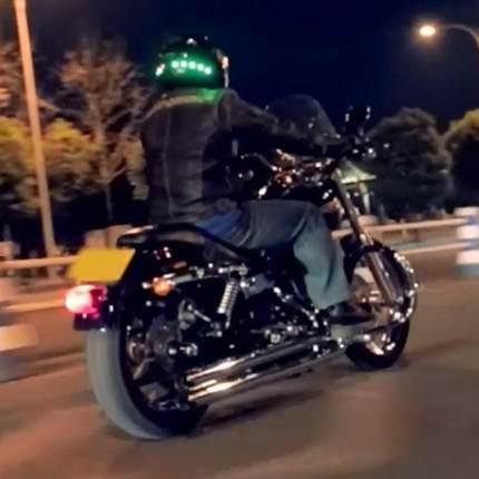 led motorcycle helmet smart safety light