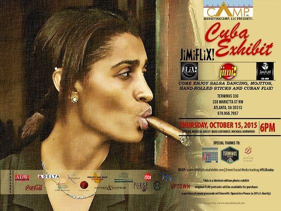 JiMi FLiX Cuba Exhibit   Thursday, October 15, 2015 @ 6PM - Terminus 330