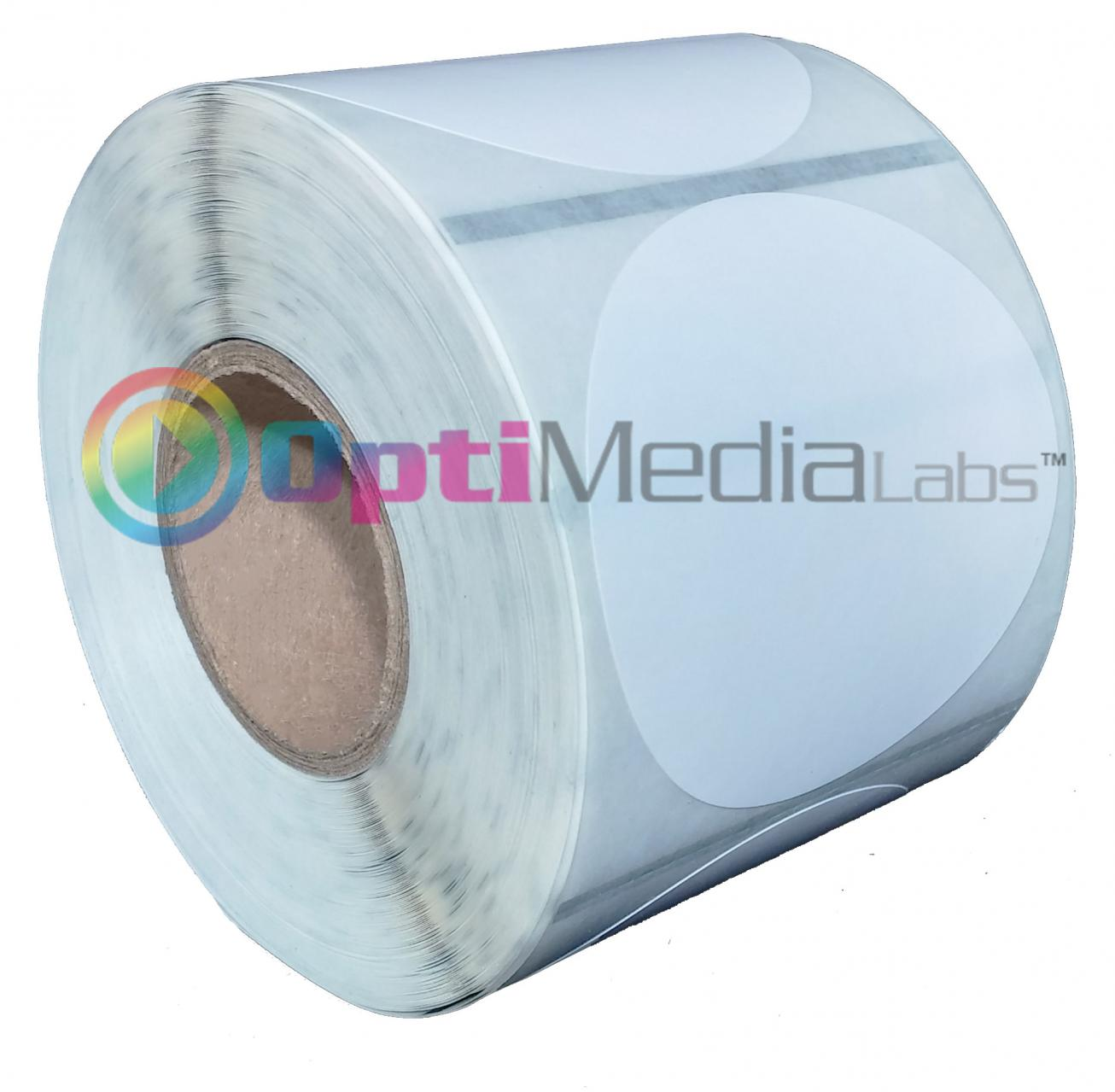 Optimedia labs now shipping epson matte labels for tm for Circle printer labels