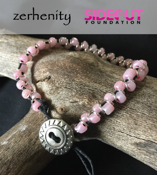 """Zerhenity & The Side-Out Foundations """"Pink for Breast Cancer Awareness"""" Bracelet"""