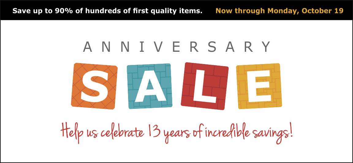 Tile Outlets Anniversary Sale from Oct. 10-19, 2015