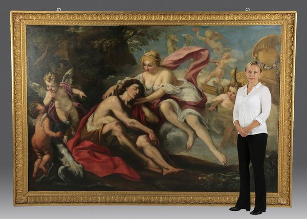 This monumental late 18th or early 19th century painting will be sold Oct. 24-25