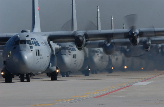 C-130's Lined Up