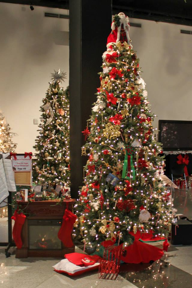 One of the many lavishly decorated trees at the 2014 Festival of Trees