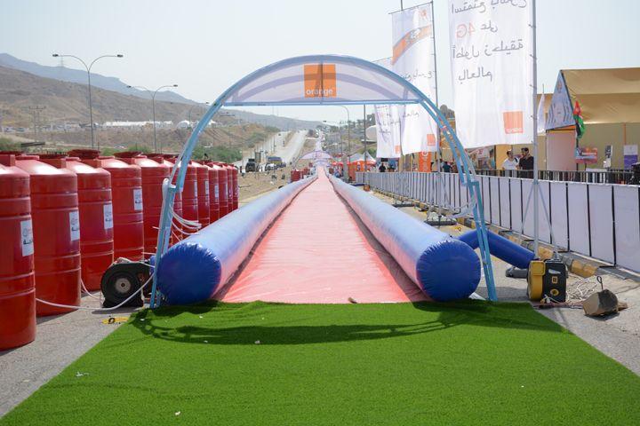 611 meter (over 1/3 mile) long slide break Guinness World Records