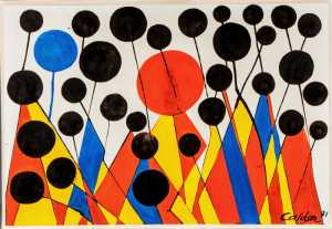 This gouache and ink on paper by Alexander Calder sold for $109,250 at auction.
