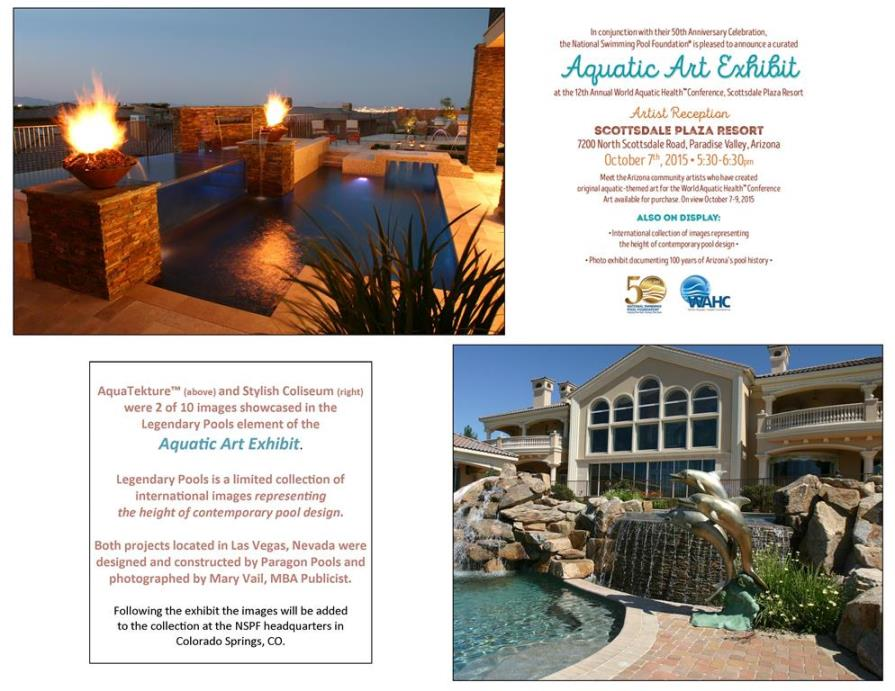 Aquatic Art Exhibit  featured works by Paragon Pools and Mary Vail MBA