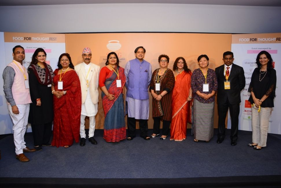Dr. Shashi Tharoor along with visiting dignitaries