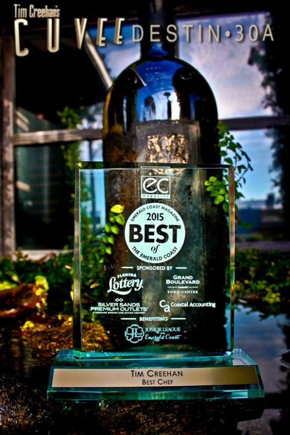 Cuvee Destin • 30A Tim Creehan voted Emerald Coast Magazine Best Chef 2015