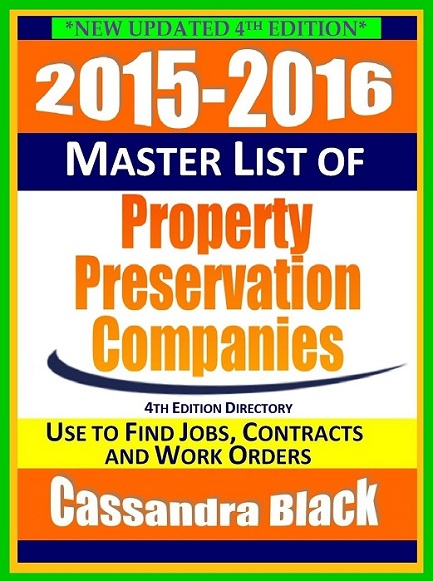 : 2015-2016 Master List of Property Preservation Companies Directory 4th Edition