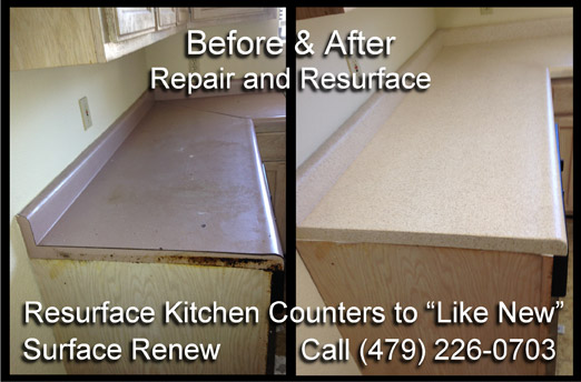 Actual Kitchen Counter Repair & Refinishing by Surface Renew