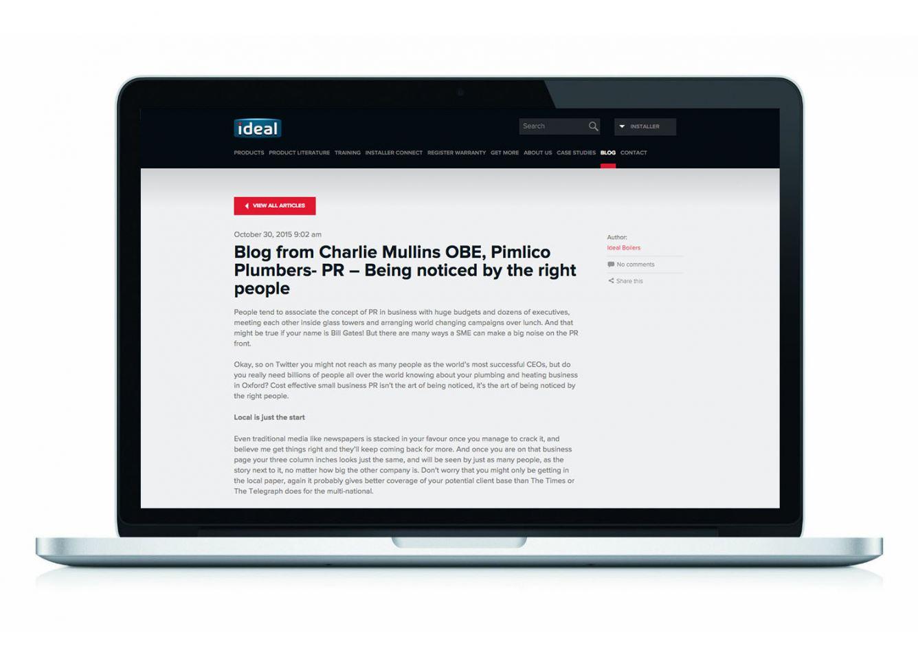 Charlie Mullins Blog