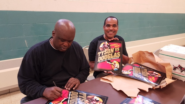 "Buster Douglas signing ""History Made"" with Ron Brashear - RockBrash Promotions"