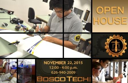 Bosco Tech Open House is Nov. 22