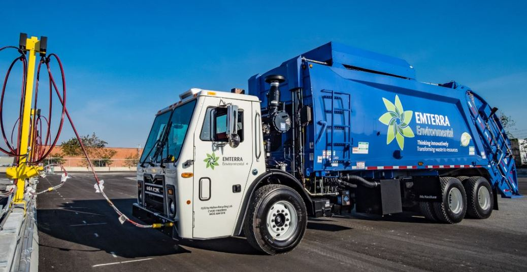 Emterra CNG Fueling Station and Refuse Truck