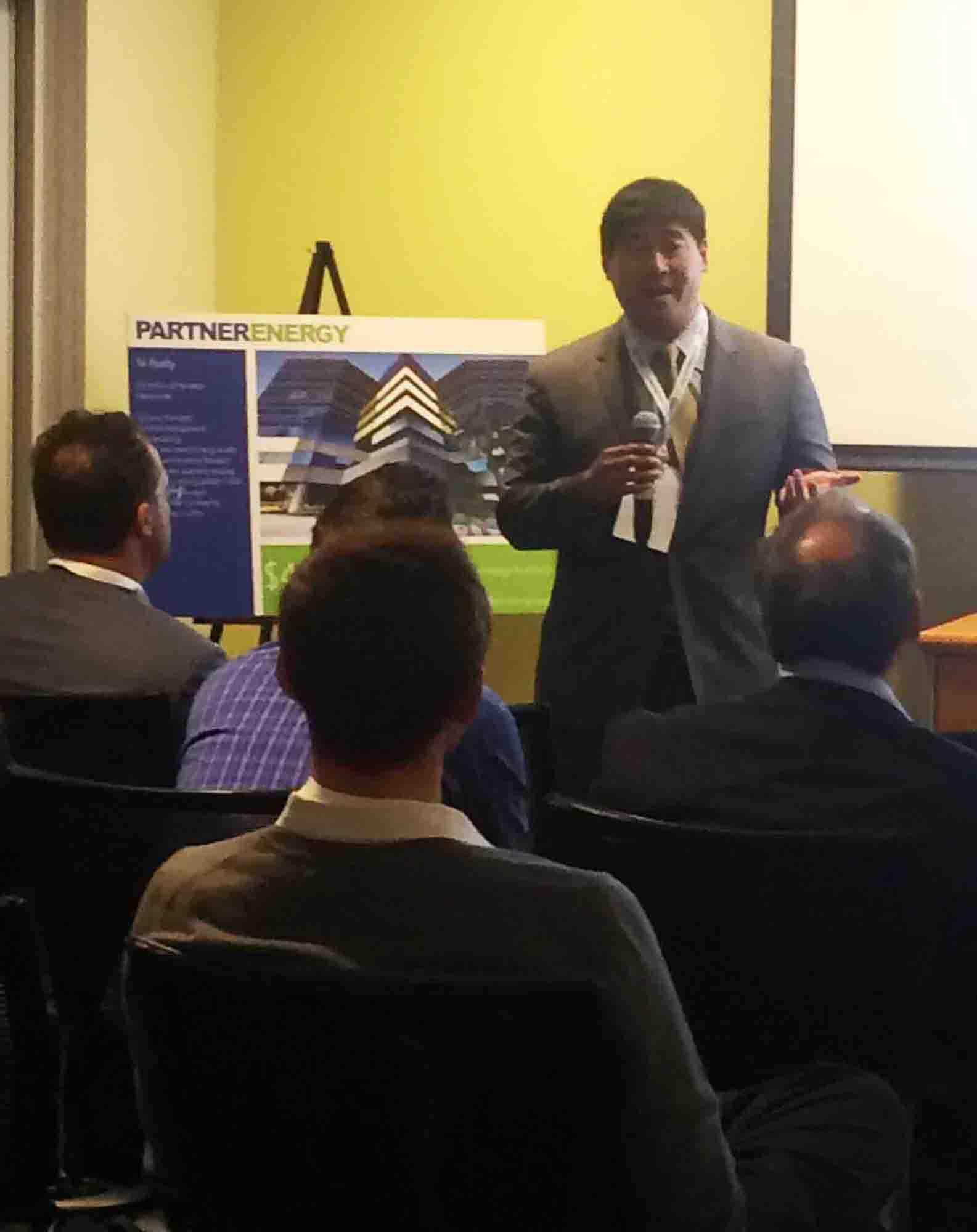 President of Partner Energy, Tony Liou, offers opening remarks.