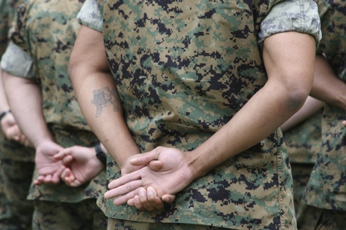 Tattoos can be a hurdle when transitioning to the civilian workforce.