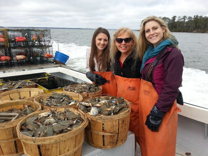 Mother and Double Daughter Trio Team of The Van Cleve Seafood Co.
