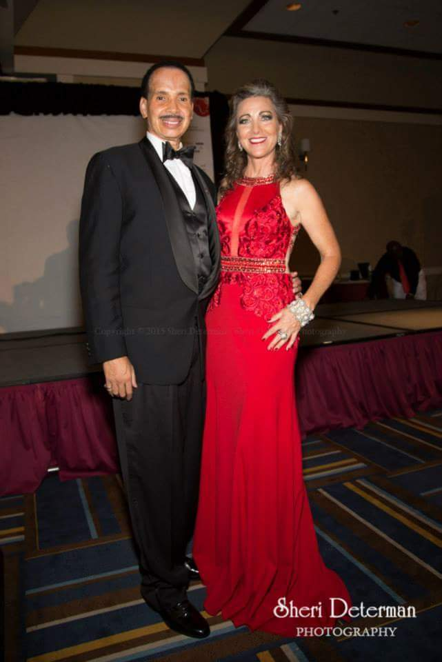 Denise with Jarvee Hutcherson, President of  Multicultural Motion Picture Assoc.