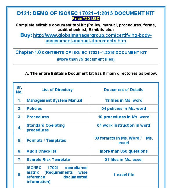 ISO 17021 documents