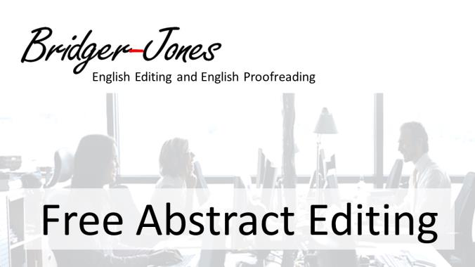 Free abstract editing and proofreading