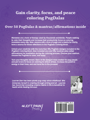 PugDala Coloring Book Back Cover