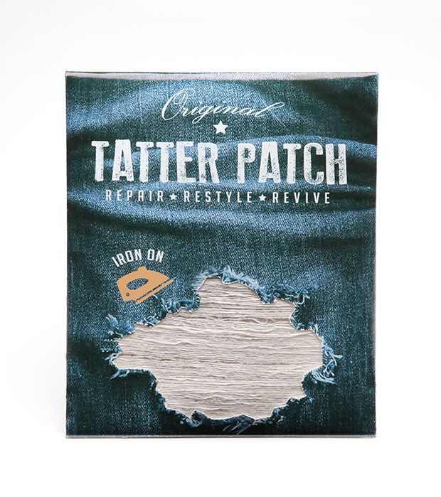 Iron-On Patch Repairs Distressed Denim in Under 5 Minutes -- All ...