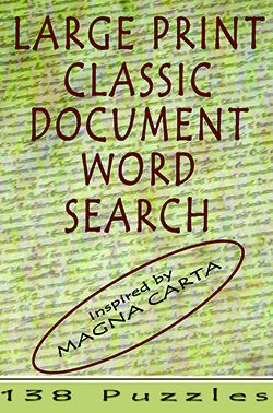 Large Print Classic Document Word Search - Magna Carta