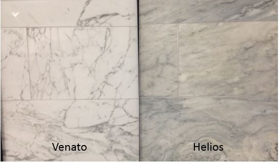 Venato and Helios: porcelain tile that looks like marble