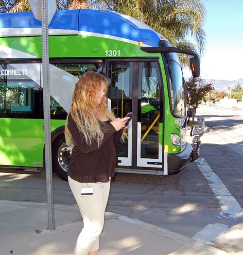 Omnitrans talking bus alerts distracted pedestrians