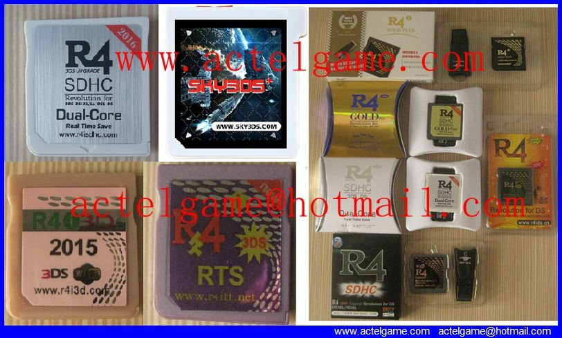 R4iSDHC R4i3D 2016 R4igold Gateway 3DS Sky3DS+ amiiqo 3DS game card