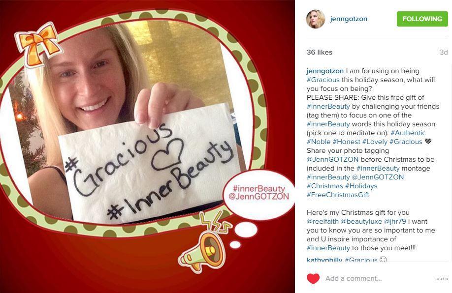 Jenn Gotzon shares #InnerLove on Instagram