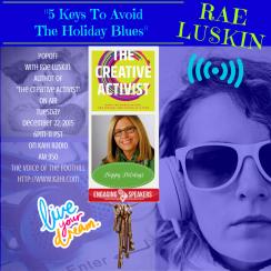 Beneficience.com PR STAR Client Rae Luskin On-Air Dec.22 with Popp KAHI Radio