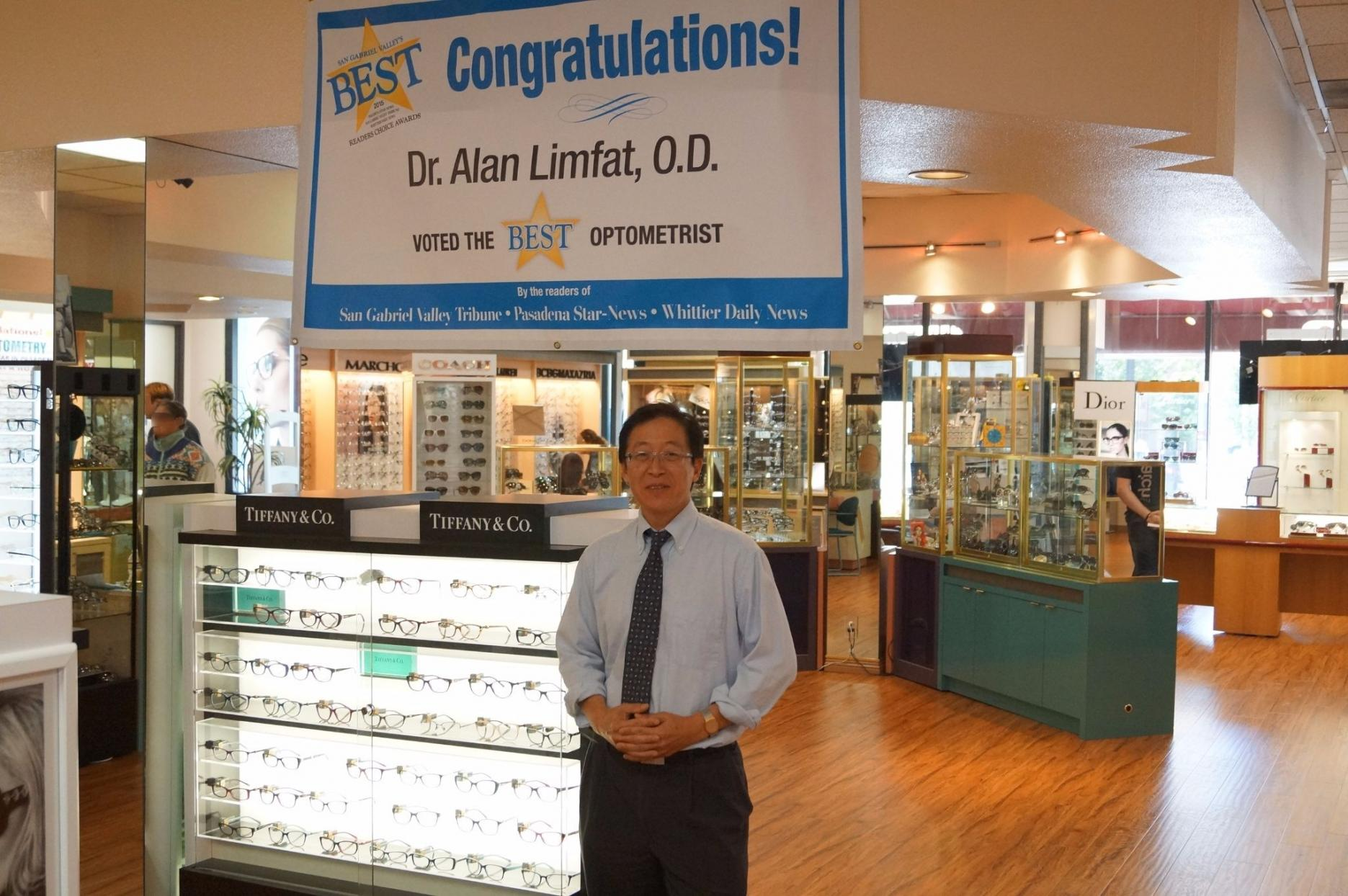 "Dr. Alan Limfat, O.D. voted ""Best Optometrist"" 2015"