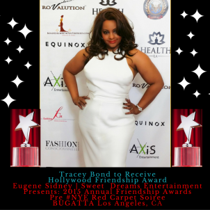 Awardee Tracey Bond Eugene Sidney's 2015 Hollywood Friendship Award PreNYESoiree