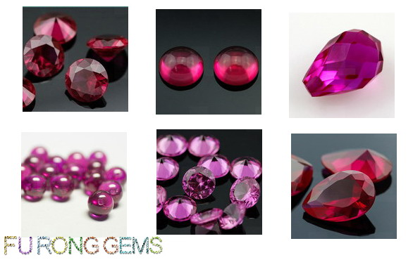 Synthetic created Ruby Red Colored Gemstones China wholesale and