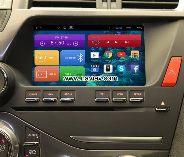 citroen ds5 android 3g wifi obd tpms car pc radio gps navigation mirror link car gps android. Black Bedroom Furniture Sets. Home Design Ideas