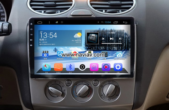 Ford Focus Capacitive Screen Car Pc Radio Pure Android