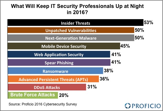 What Will Keep IT Security Professionals Up at Night in 2016?