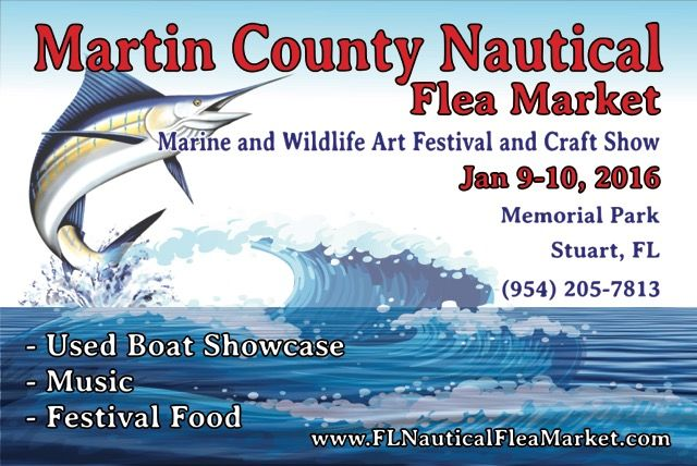This weekend 8th annual martin county nautical flea market for Anchor jewelry stuart fl