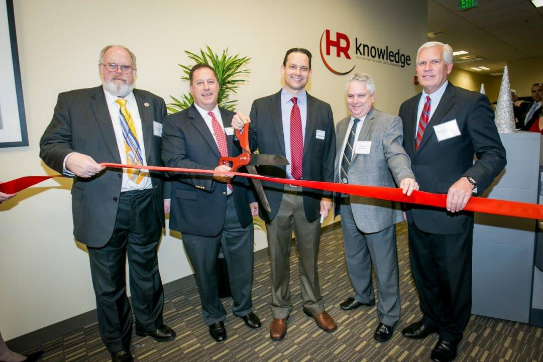 HR Knowledge Ribbon cutting