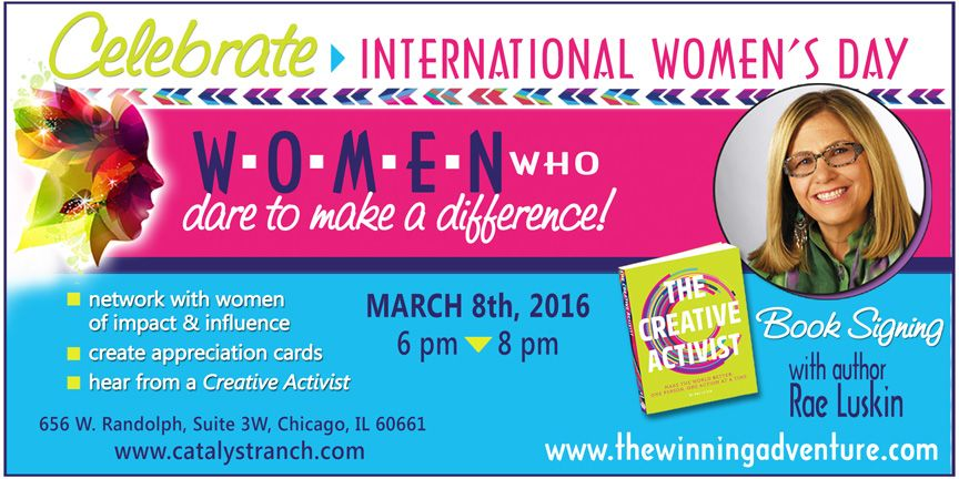 Rae Luskin's Book Signing Event on Int'l Womens Day - Catalyst Ranch, Chicago
