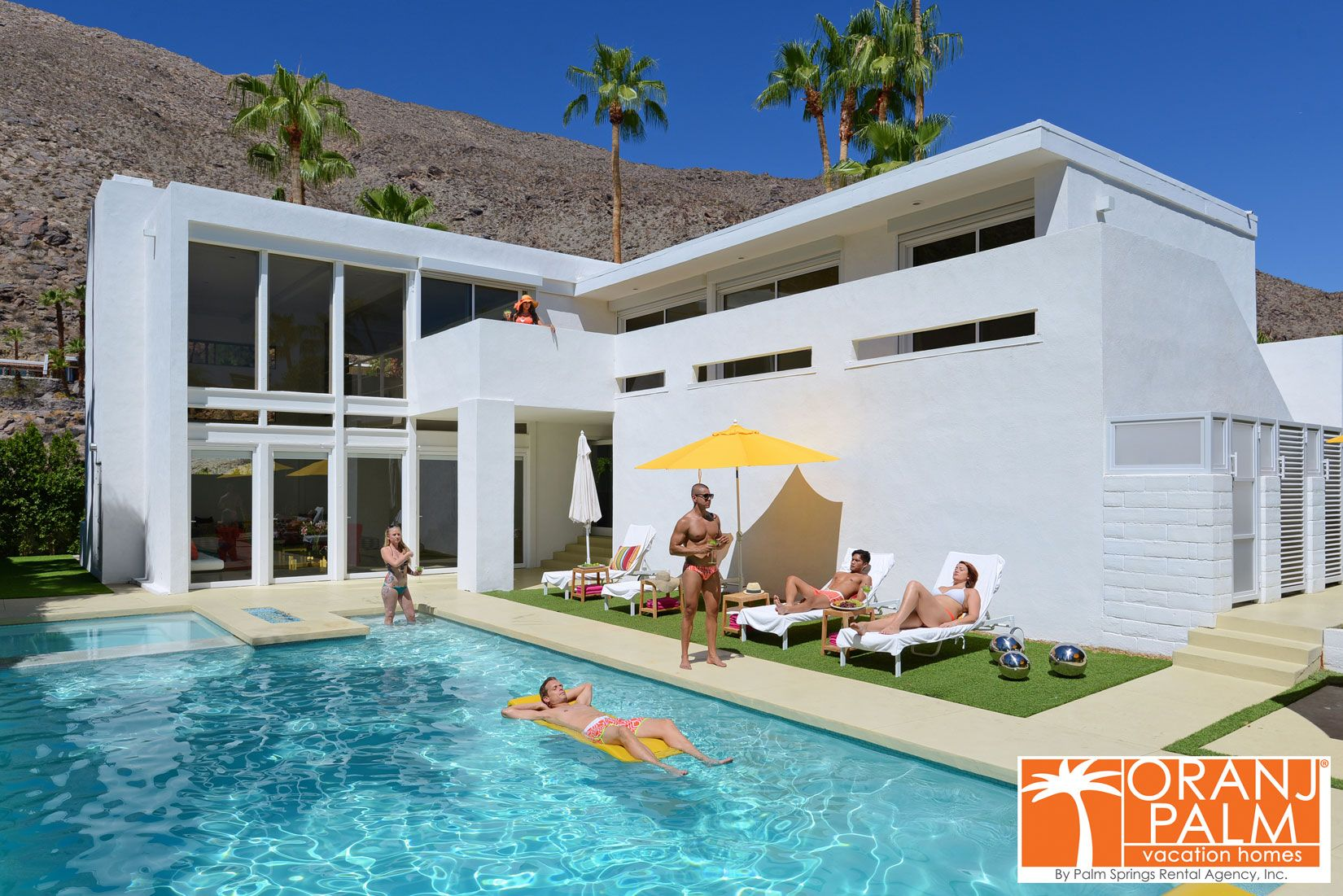 Oranj Palm Vacation Homes   Palm Springs Luxury Estates