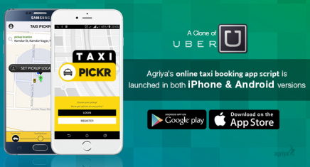 Uber Clone - Taxi Pickr from Agriya