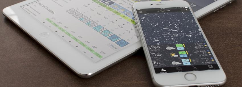 app with snow