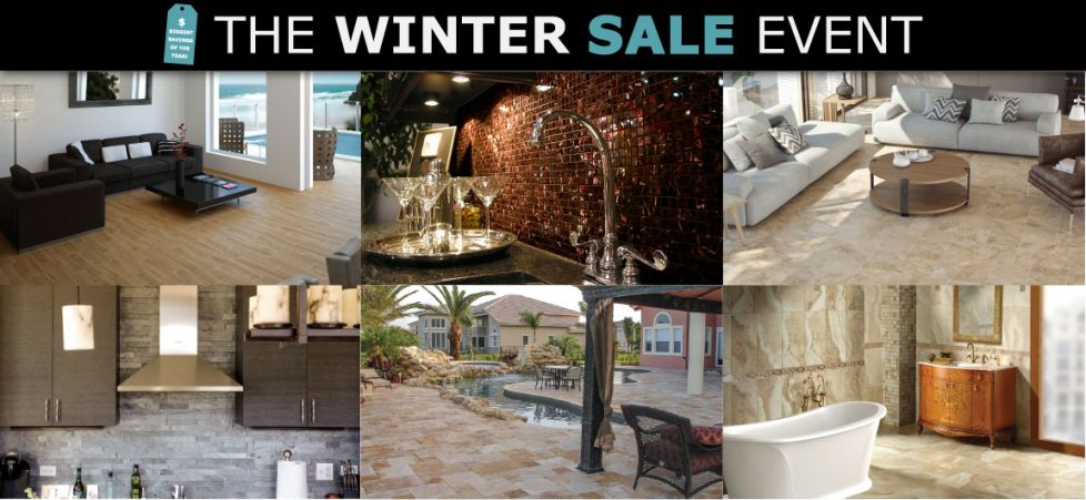 Save Up To 90% On 1st Quality Tile, Stone and Mosaics During the Winter Sale