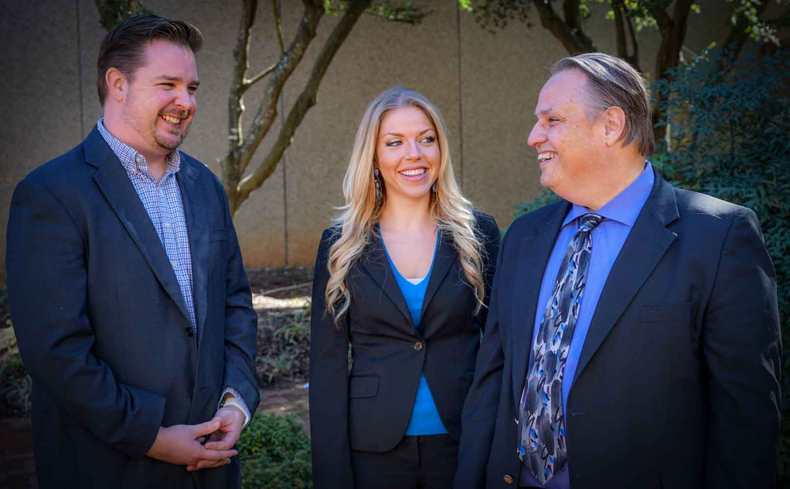 Greg Hyer, Elyse Archer and Martin Brossman of Linking into Sales