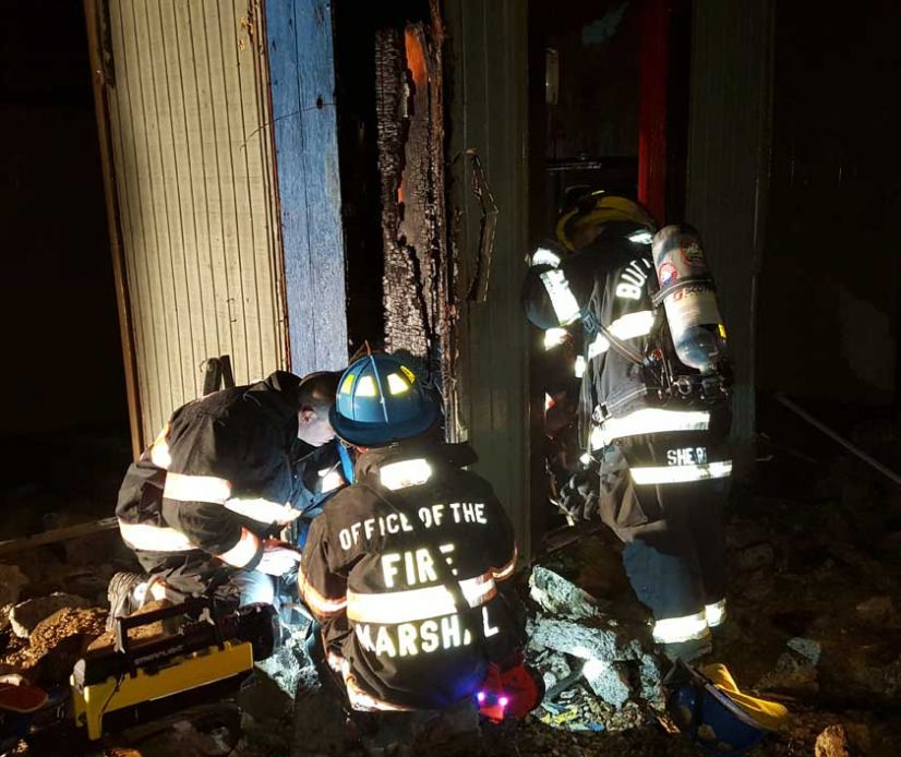 The Mount Olive Fire Marshal's Office probes the Jan. 7 fire at a camp.