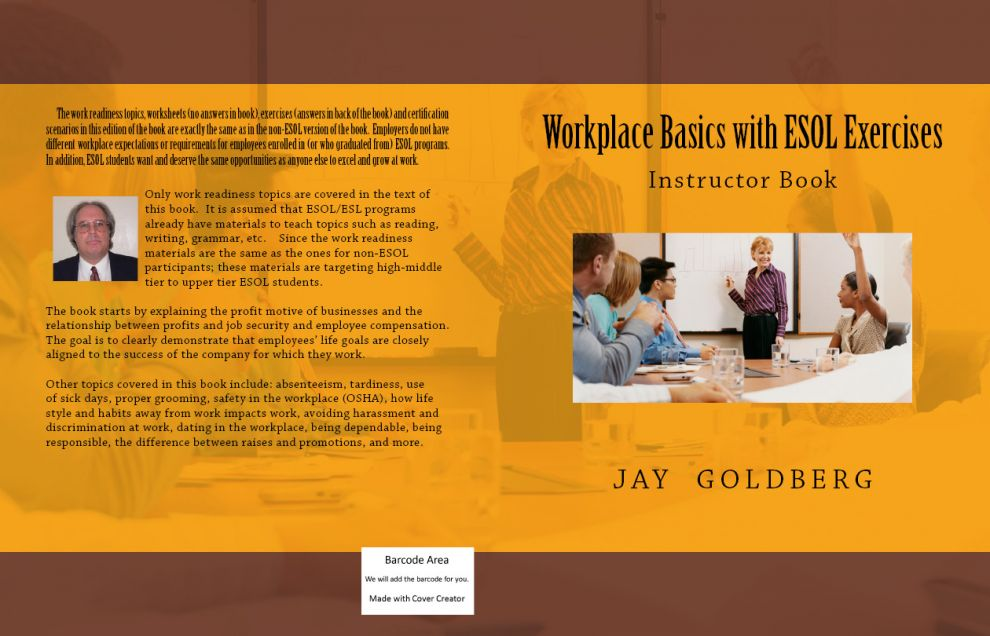 Workplace Basics with ESOL Exercises: Instructor Book Cover